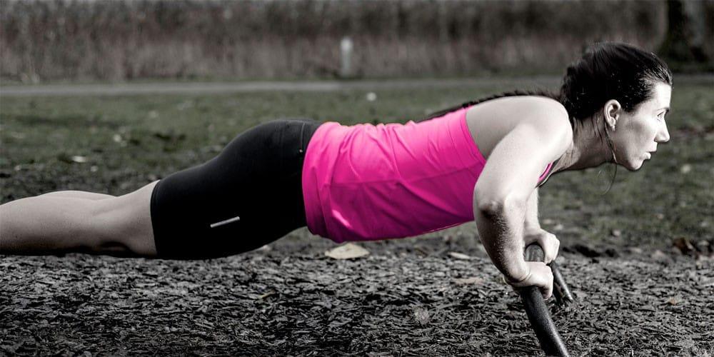 Push up utomhus träningsutrustning