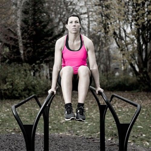 utegym för Dips träning