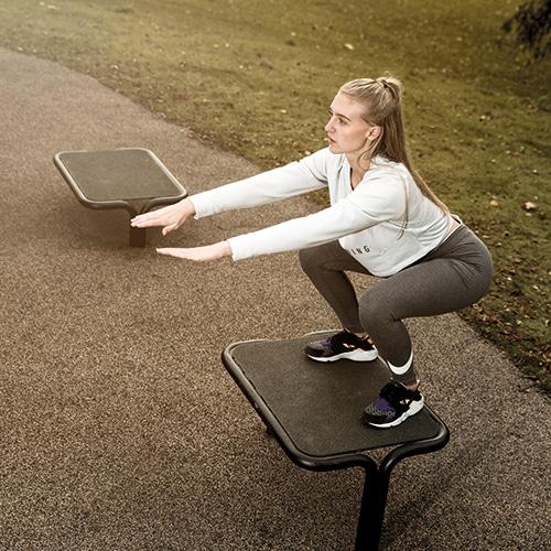 Udendørs fitnessredskab til box jump Træningsredskaber i flot design