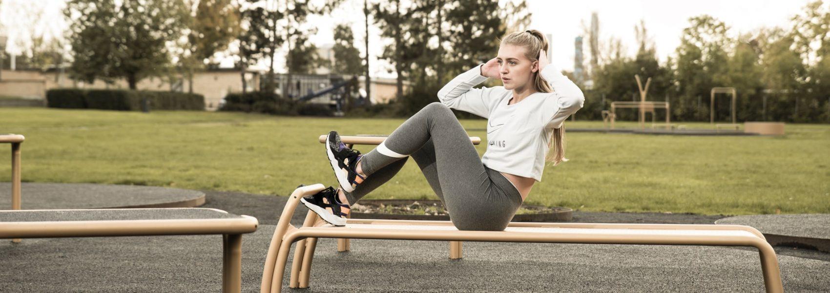Udendoers fitnessredskab til træning i det fri dansk design